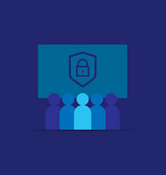 Privacy data protection and internet vpn security vector