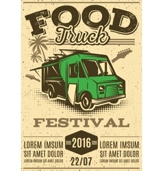Retro poster for invitations on street food vector