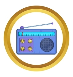 Retro radio receiver icon vector