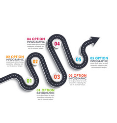 road way location infographic template vector image