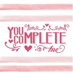 romantic love quote vector image