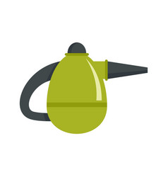 Small hand vacuum cleaner icon flat style vector