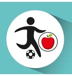 Sport man soccer nutrition health vector