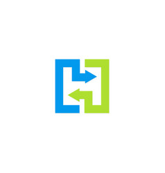 square arrow colored logo vector image