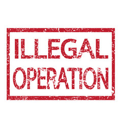 Stamp text illegal operation vector