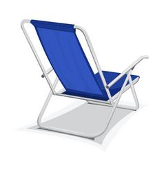 steel beach chair vector image