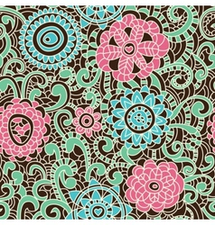 Stylish floral pattern vector