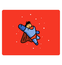 super hero cartoon character vector image