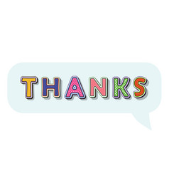 thanks pop art comic style inscription in speesh vector image