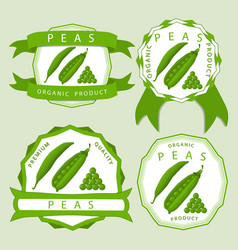 The green peas vector