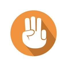 Three fingers gesture vector image vector image