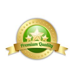 three golden stars symbol with premium quality vector image