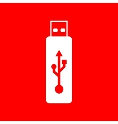 USB flash drive sign vector image