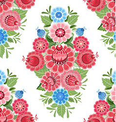 Vintage seamless texture with stylized floral vector