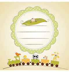 Welcome baby card vector
