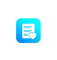 Wish list icon vector