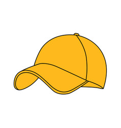 yellow baseball cap icon vector image