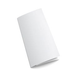Blank trifold paper brochure vector image
