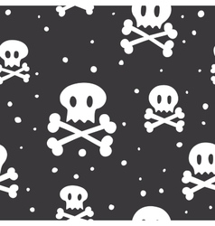 Crossbones pattern black vector image