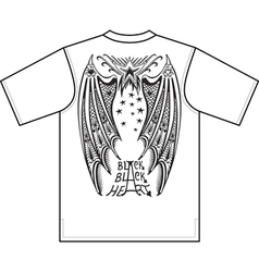 devil wings t-shirt design vector image
