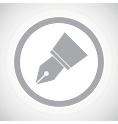 Grey ink pen nib sign vector