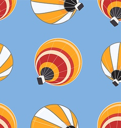 Seamless pattern of hot air balloons vector image