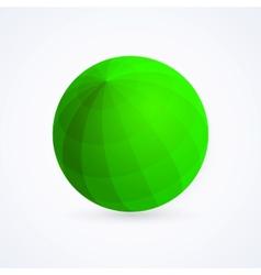 Sphere green ball vector image vector image
