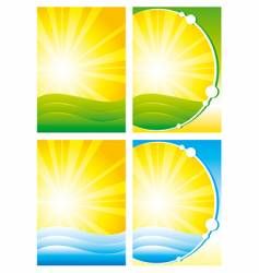 summer backgrounds vector image vector image