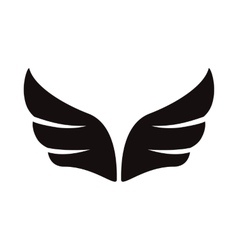 A pair of black wings icon simple style vector image vector image