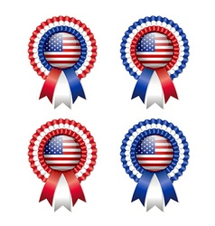 American rosettes vector image vector image