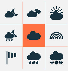 Meteorology icons set collection of weather vector