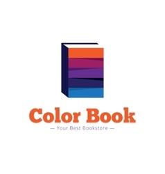 paper style bookstore logo Multicolor flat vector image