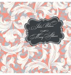 vintage styled wedding invitation vector image vector image