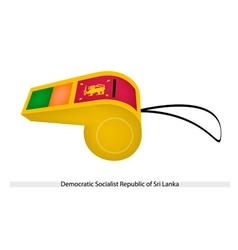 A Whistle of Sri Lanka vector image