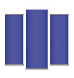 blue vertical banner templates vector image
