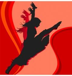 dancing girl in red vector image