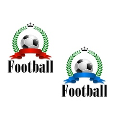 Football emblem or label vector image vector image