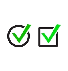 Green Check Marks Icons vector image