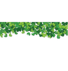 happy saint patrick s day horizontal seamless vector image vector image
