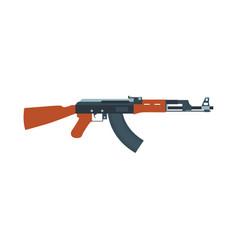 rifle gun assault weapon machine military icon vector image