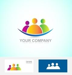 Social media people logo icon vector image