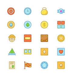 Sports colored icons 9 vector