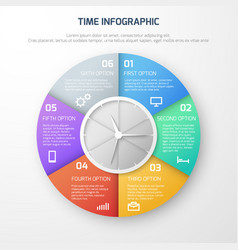 time schedule infographic with clock and vector image vector image