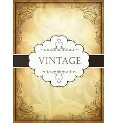 Vintage background with ornamental frame vector