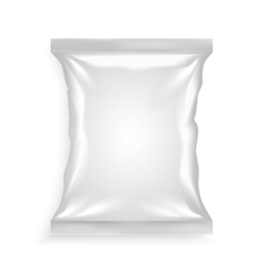 White plastic bag vector