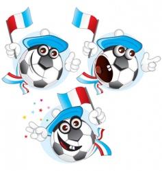 France cartoon ball vector image