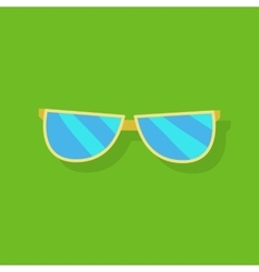 Sunglasses Icon Silhouette vector image vector image