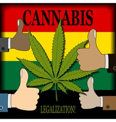 Supporting the legalization of cannabis vector image