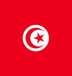 tunisia flag flat vector image vector image