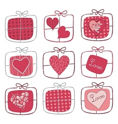 Valentine Gifts Set vector image vector image